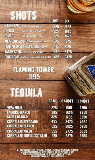 Lord of the Drinks Meadow menu 9