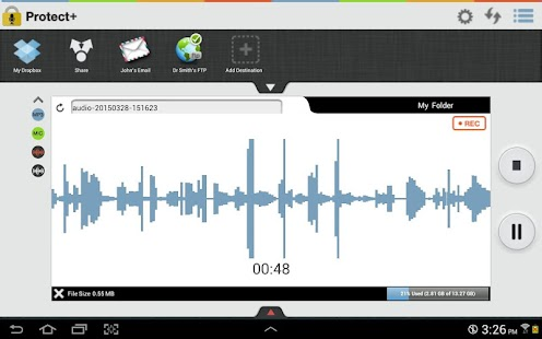 Protect+ Voice Recorder Pro- screenshot thumbnail