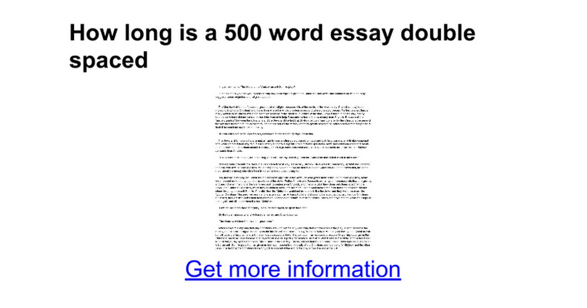If only essay