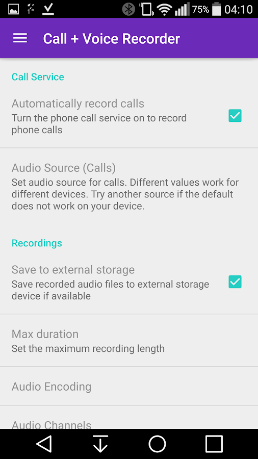 CVR Call Recorder Pro- screenshot