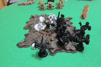Photo: Start of turn 6 - the die is cast...the battle is over. The Archon is the last surviving Dark Eldar unit.