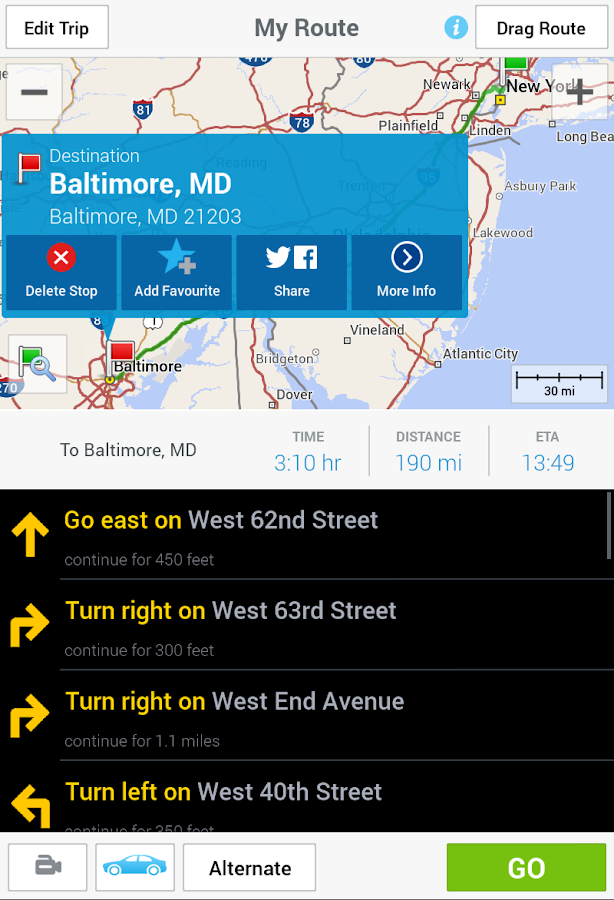 CoPilot GPS - Navigation App- screenshot