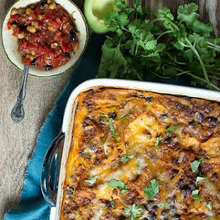 Chorizo Black Bean Breakfast Casserole.