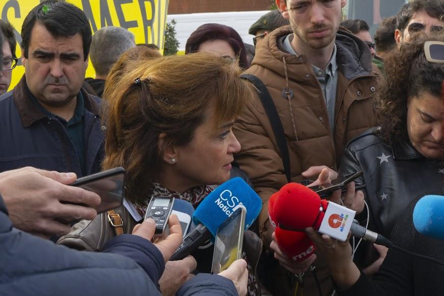Concentración de los agricultores en Almería capital.