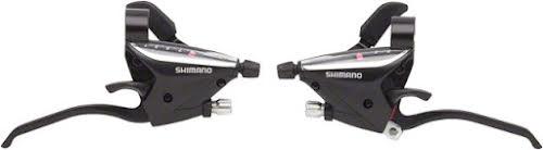 Shimano EF65 3x9-Speed Flat Bar Brake/Shift Lever Set, Black
