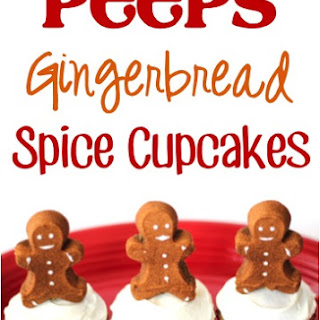 Peeps Gingerbread Spice Cupcakes!