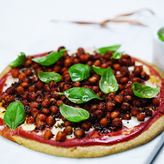 Spelt Margherita Pizza with 'Pepperoni' Chickpeas Recipe