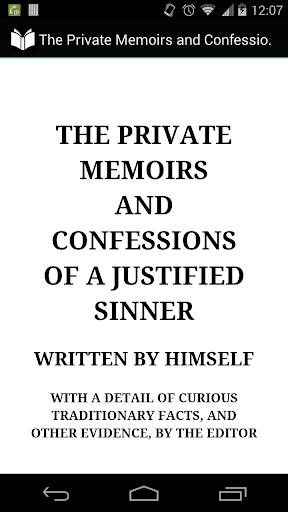 A Justified Sinner Confessions