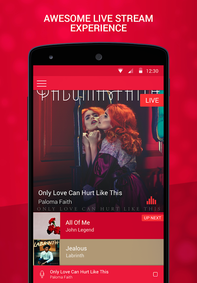 Heart Radio App- screenshot