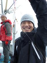 Photo: ナカムラさんお上手! インチクで根がかりしていたジグを釣った! まだ使えそうなジグ(イノセント)でした。