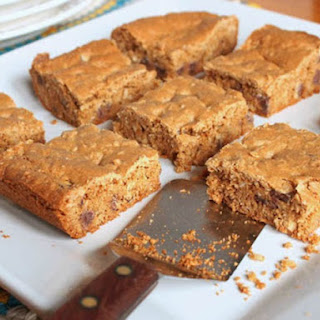 Gluten-Free Browned Butter Chocolate Chip Cookie Bars.