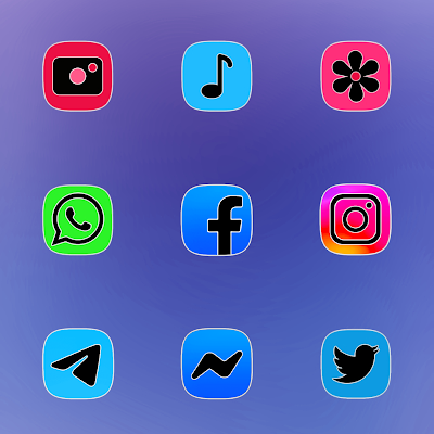 ONE UI FLUO - ICON PACK Screenshot Image