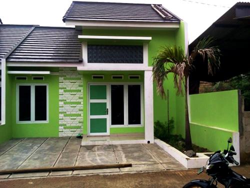 warna cat hijau rumah minimalis bagian luar
