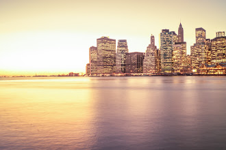 Photo: The New York City Skyline at Sunset - Lower Manhattan ---  You can purchase prints of this image here: http://goo.gl/iW6gH
