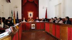 Foto del Pleno en el que se aprobaron los presupuestos para 2020, presidido por el alcalde de Cuevas del Almanzora.
