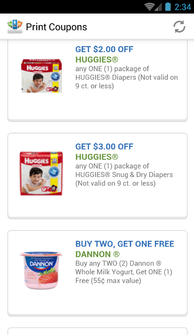 Print Coupons- screenshot
