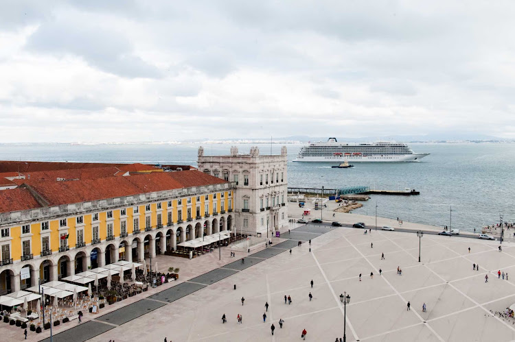 Viking Star in Lisbon, Portugal. The ship has itineraries to both northern Europe and the Mediterranean.