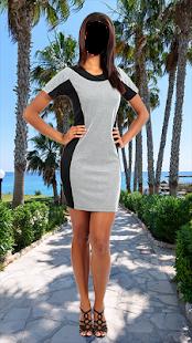 Lady Short Dress Photo Montage - náhled