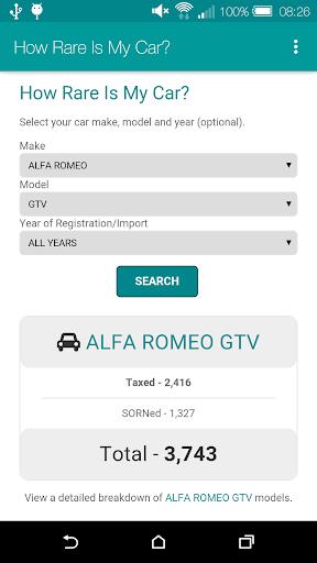 How Rare Is My Car? screenshot