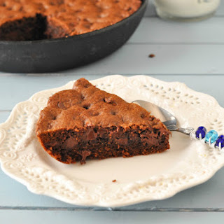 Chocolate-Chocolate Chip Skillet Cookie