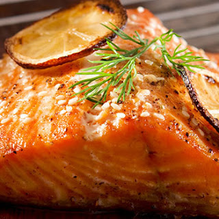 Cedar Plank Salmon with Maple Glaze