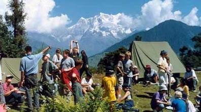Photo: A student group at Himalayan  Village camping