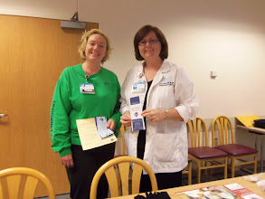 Photo: Marta Dewyer and Jennifer Sweeney at the certification information fair for nurses who are interested in pursuing specialty certification