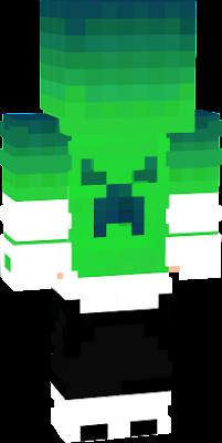 Menino creeper tema verde 3D