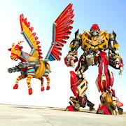 Flying Goat Transform War: Futuristic Robot Games [Mega Mod] APK Free Download