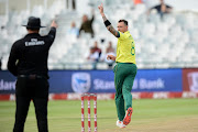 Dale Steyn of South Africa appeals during the 1st KFC T20 International match between South Africa and Sri Lanka at PPC Newlands on March 19, 2019 in Cape Town, South Africa.