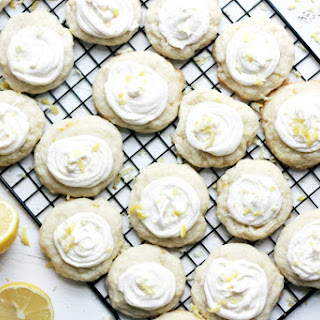 Lemon Cookies w/ Creamy Lemon Cream Cheese Frosting