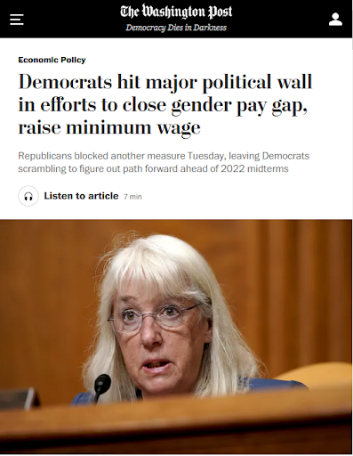 WaPo Obscures Republican Role in Killing Equal Pay