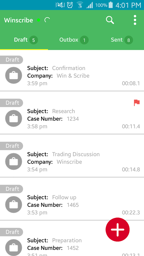 Winscribe Professional- screenshot