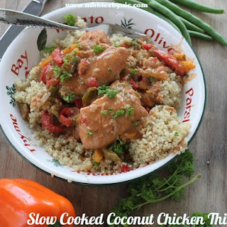 Slow Cooked Thai Chicken Thighs