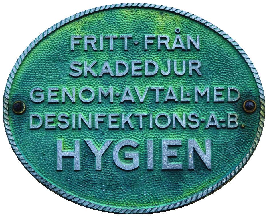 Skylt fasad Desinfektions AB Hygien, (c) Stick.se