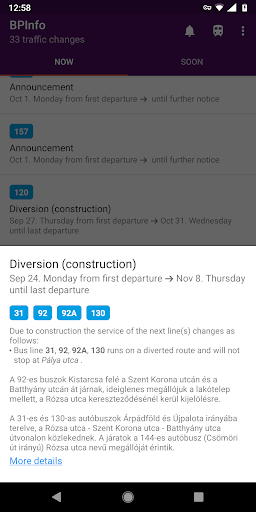 BPInfo - Budapest Public Transport Notifications  screenshots 2