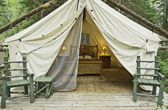 Photo: A glamping tent that awaits you