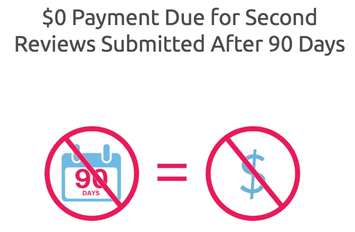 $0 Payment for Second Reviews Submitted After 90 Days
