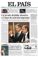 Photo: El veredicto del juicio a Camps, los planes de Gallardón para Justicia y la entrevista con Angela Merkel , en nuestra portada del 26 de enero http://www.elpais.com/static/misc/portada20120126.pdf