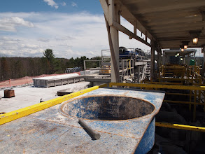 Photo: Where you would add things to the drilling mud to change its properties.