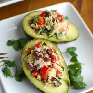 Mexican Tuna Stuffed Avocados.