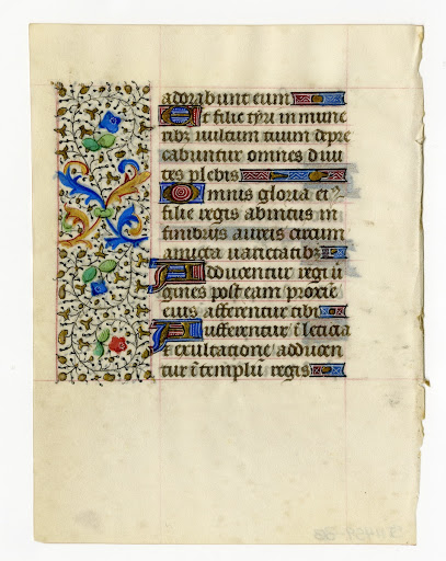 Book of Hours leaf 1. Verso.