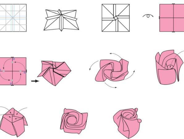 3d rose puzzle instructions