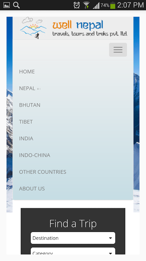 Well Nepal Travel- screenshot