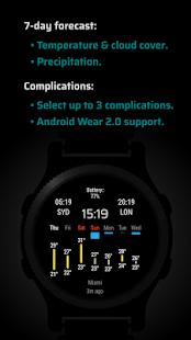 Nomad Watch Face - Weather & Calendar 1.0 APK + Mod (Unlimited money) إلى عن على ذكري المظهر