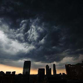 A Storm Is A Comin' by Mauricio Alas - City,  Street & Park  Vistas