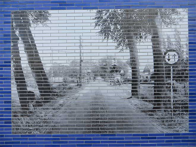 Mozaïek Spooronderdoorgang Leijenseweg Bilthoven