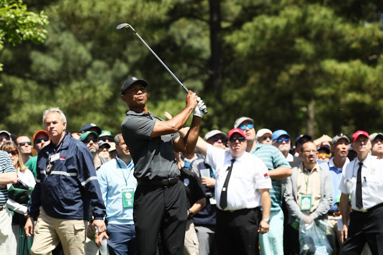 26bfd76f512ab0 Tiger Woods one-over in return as Jordan Spieth surges to Masters lead