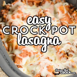 Easy Crock Pot Lasagna