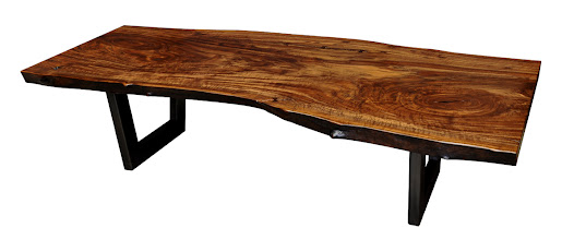 Photo: http://dorsetcustomfurniture.blogspot.com/2013/01/another-claro-walnut-slab-coffee-table.html